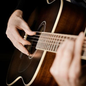1080_Playing Acoustic Guitar HD Wallpaper