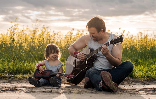 otec-syn-gitary-muzyka